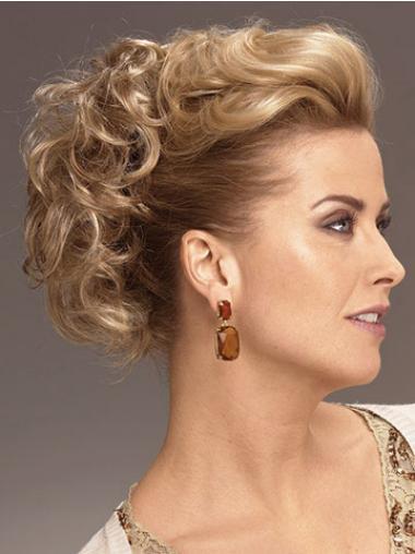 Dauerhafte Gelockten Blonden Clip In Haarteile