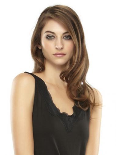 Exquisite Gewellten Braunen Clip In Haarteile