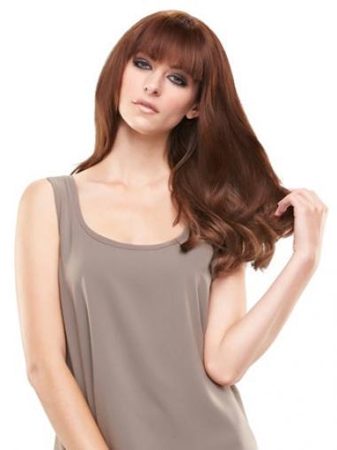 Ideale Glatten Rotbraunen Clip In Haarteile