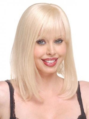 Glatte Blonden Großen Echthaar Haarteile