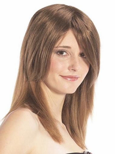 Glatte Rotbraunen Haarschnitt Haar Falls & Halb