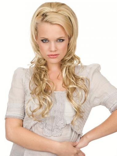 Gewellte Blonden Weich Haar Falls & Halb