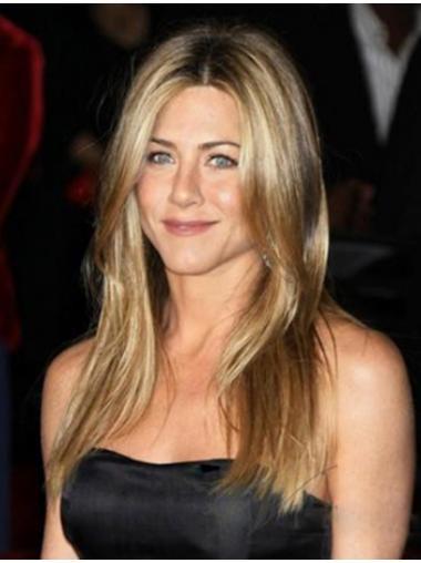 Lange Blonden Modernen Jennifer Aniston EchthaarPerücken