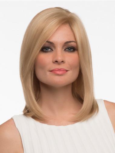 Hübsche Blonden Glatten Neuen EchthaarPerücken