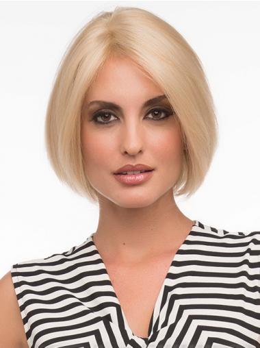 Erschwingliche Blonden Glatten Neuen EchthaarPerücken