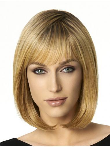 Verbilligte Blonden Glatten Mittleren Perücken