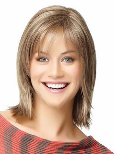 Populäre Blonden Bobs Mittleren Perücken