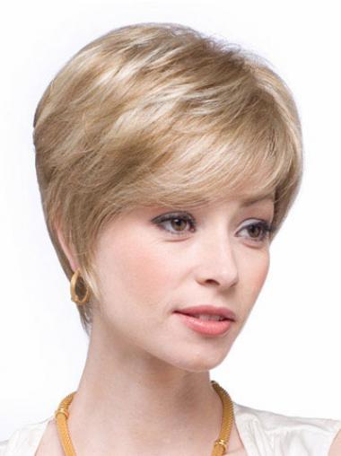 Glatte Blonden Hübschen Echthaarperücken