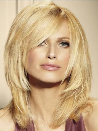 Wunderbare  Mittleren Blonden Mono-Filmansatz Perücken