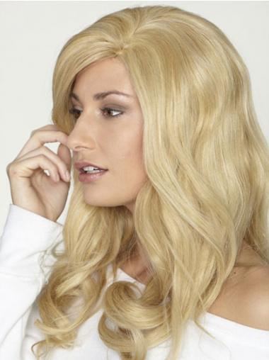 Exquisite Langen Blonden Mono-Filmansatz Perücken