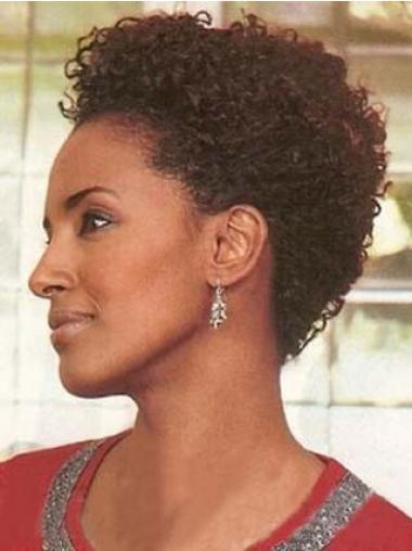 Rotbraune Gelockten Moden Afroamerikanische Perücken