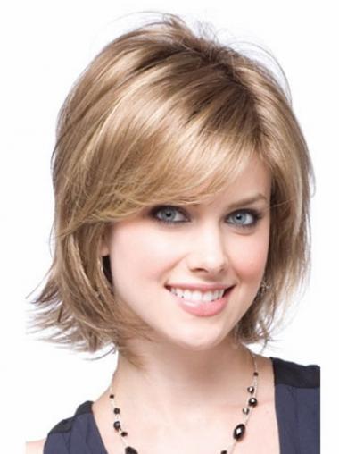 Blonde Stufigen Modischen Synthetikperücken