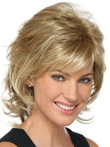Modäne Gewellten Blonden Klassischen Perücken