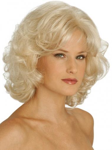 Komfortable Grauen Blonden Klassischen Perücken