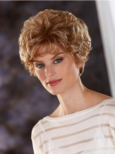 Geeignete Gewellten Blonden Klassischen Perücken