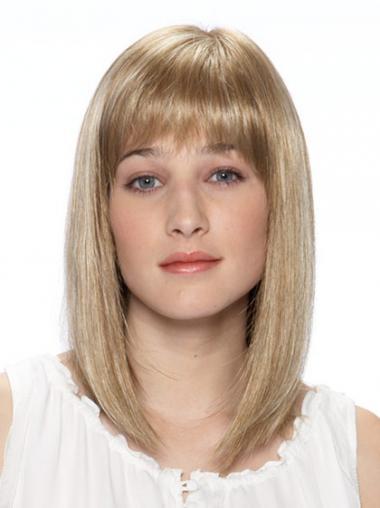 Erschwingliche Blonden Bobs Mono-Filmansatz Perücken
