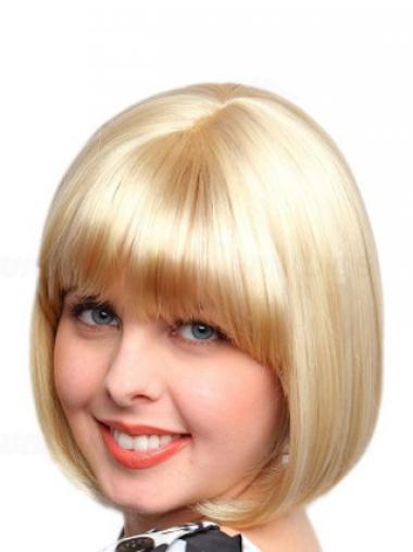 Dauerhafte Glatten Blonden Neuen Synthetikperücken