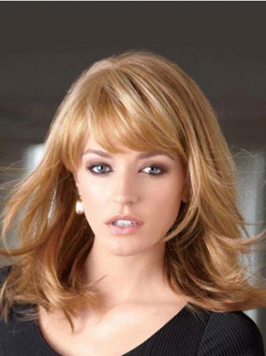 Hübsche Blonden Glatten Mono-Filmansatz Perücken