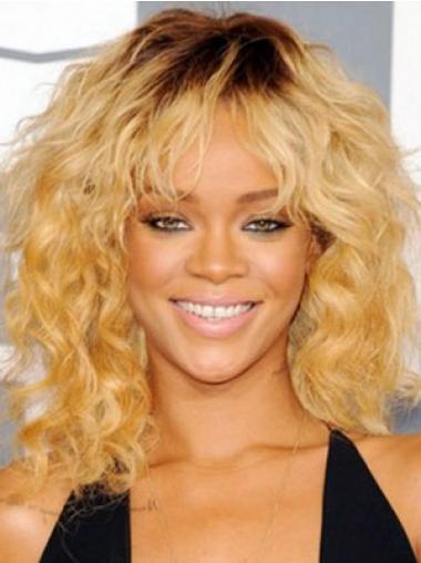 Blonde Stufigen Gelockten  Bequem Rihanna