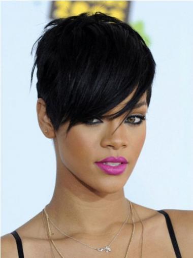 Schwarze Glatten Bequemen Rihanna