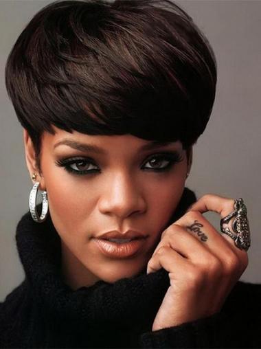 Schwarze Glatten Naturlichen Rihanna