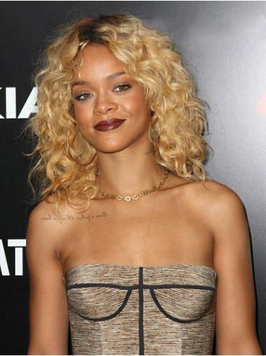 Blonde Stufigen Gelockten  Schonen Rihanna
