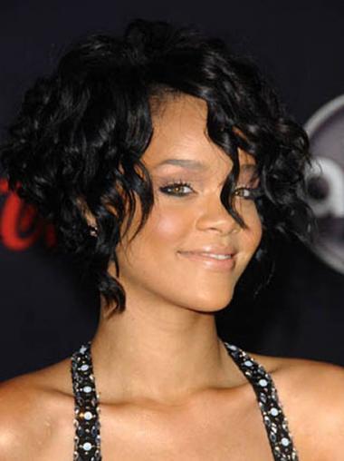 Schwarze Stufigen Glatten Attraktiven Rihanna