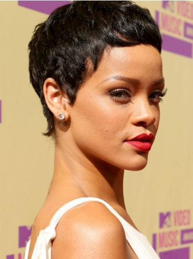 Schwarze Glatten Hübschen Rihanna