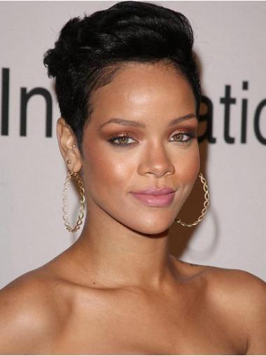 Schwarze Glatten Top Rihanna