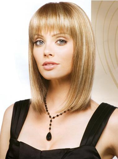 Exquisite Mittlere Blonden Monofilament Perücken