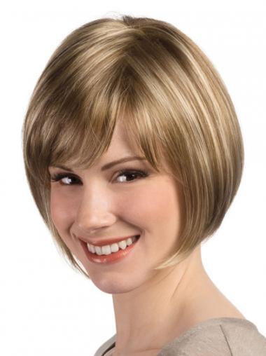 Bequeme Kurzen Blonden Monofilament Perücken