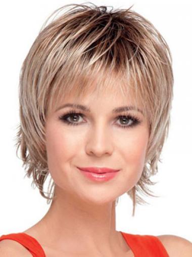 Blonde Idealen Glatten Kurzen Perücken