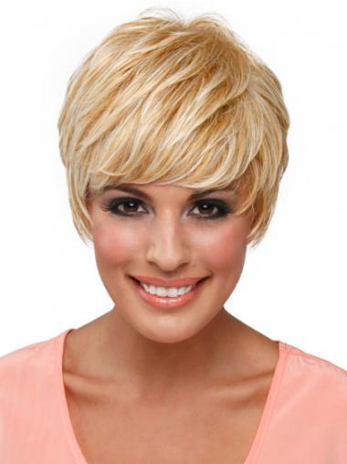 Blonde Glatten Tresse Kurzen Populären Perücken