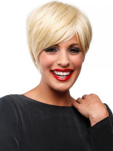 Geeignetes Blonden Mono-Filmansatz Kurzen Perücken