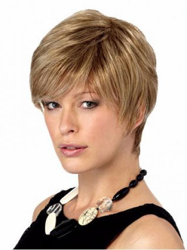 Gute Blonden Qualität Kurzen GlattenPerücken