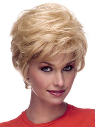 Populäre Blonde Tresse Gewellte EchthaarPerücken