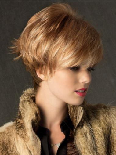 Blonde Glatten weichen Kurzen Perücken