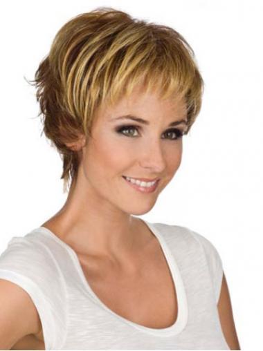 Wunderbares Monofilament  Sehr Kurzen Blonden Perücken
