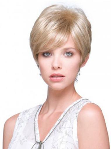 Kurzstes Blonden Monofilament Attraktive Perücken