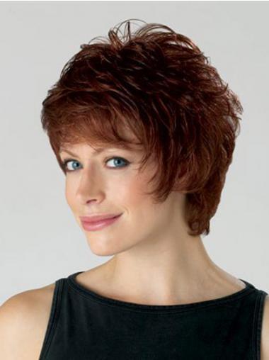 Haarschnitte Stufigen Gewellten Alten Weiblichen Perücken