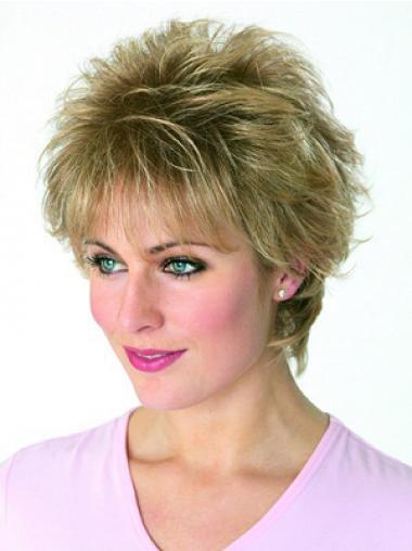 Blonder Gewellten Stil Kurzen Perücken