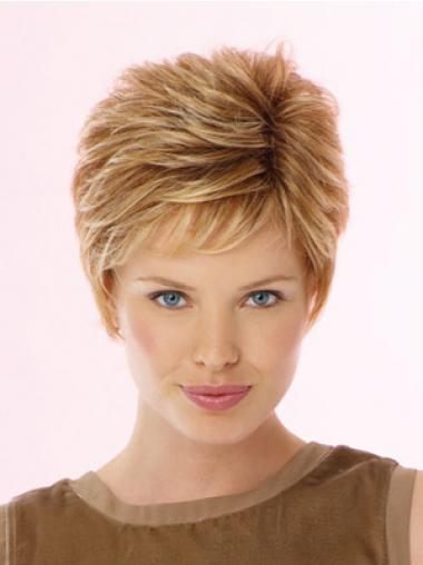 Blondes Gewellten Synthetik Idealen Kurzen Perücken