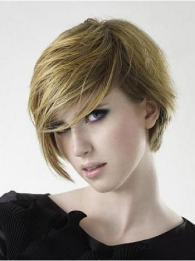 Blonde Stufigen Glatten Schonen Kurzen Perücken