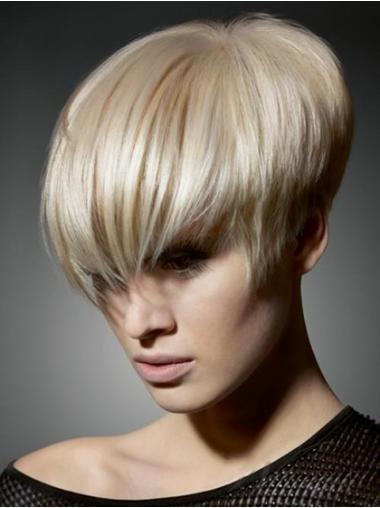 Blonde Glatten Wunderbaren  Kurzen Perücken