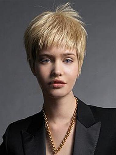 Blonde Glatten Modernen Kurzen Perücken
