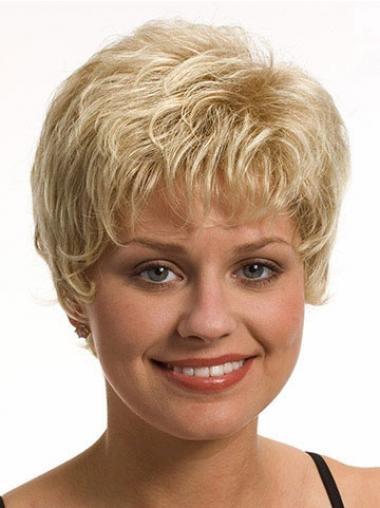 Flexibilitätes Synthetik Blonde Neuen  Perücken