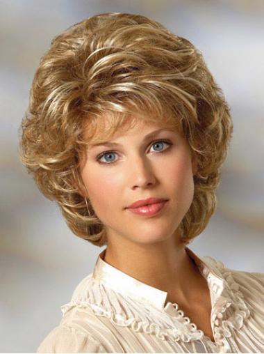 Ideale Gelockten Blonden Klassischen Perücken