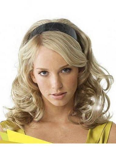 Gewellte Blonden Flexibilitäten Halb Perücken