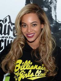 """20"""" Beyonce Schnieke Gewellten Spitzen Perücken"""