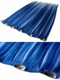 On-line Glatte Schwarzen Clip in Haar Extensions
